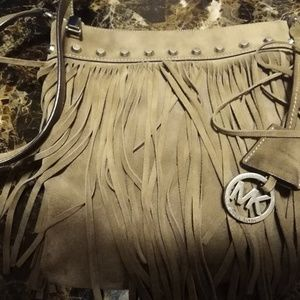Michael kors fringe purse